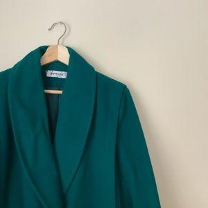 Vintage Forecaster Teal Coat